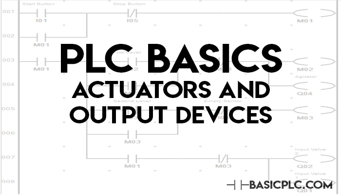 PLC Basics Actuators and Output Devices